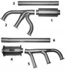 BEECH 35H-P Exhaust