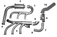 BEECH 35 Turbo Exhaust