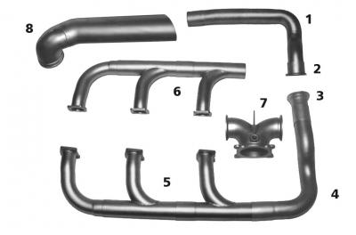 Beech 58P/58TC Exhaust | Knisley Welding