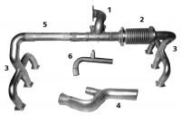 CESSNA 188 T Exhaust