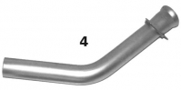 HELIO Helio Courier K395-061-001-54 Right Hand Tailpipe