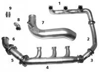 CESSNA 421 A/B RH Exhaust